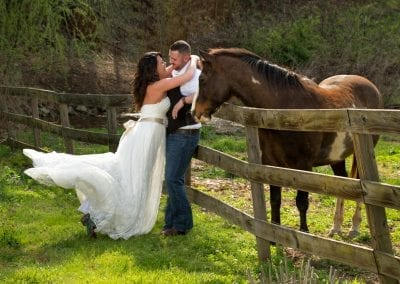 Spring Wedding Horses Elope to Pigeon Forge